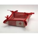 Košíček Patchwork + Piko 04 červená