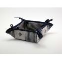 Košíček Patchwork + Piko 04 modrá