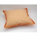Polštářek 40 x 40 cm Pruh 04 oranžová