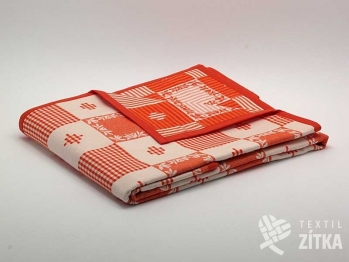 Ubrus, napron, prostírky - Patchwork oranžová 02