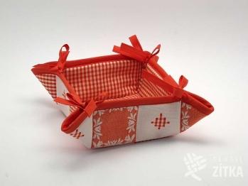 Košíček Patchwork + Piko 04 oranžová 02