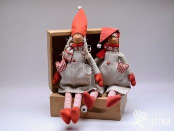 Vánoční skřítek - červená