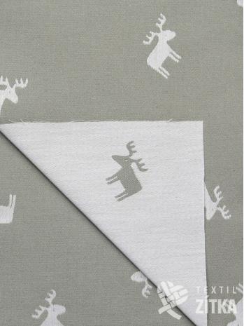 Žakár béžový jelen