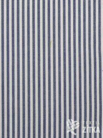 Kanafas tmavě modrý drobný proužek