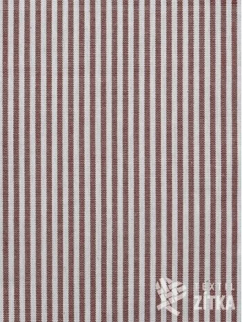 Kanafas drobný proužek 0,4 cm terakota