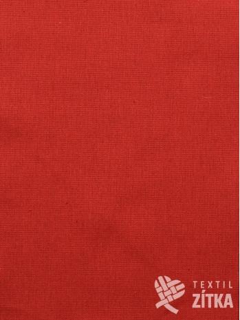 Kanafas jednobarevná červená