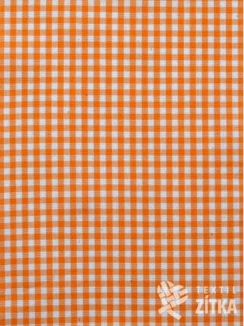 Kanafas drobná kostička 0,4 cm oranžová