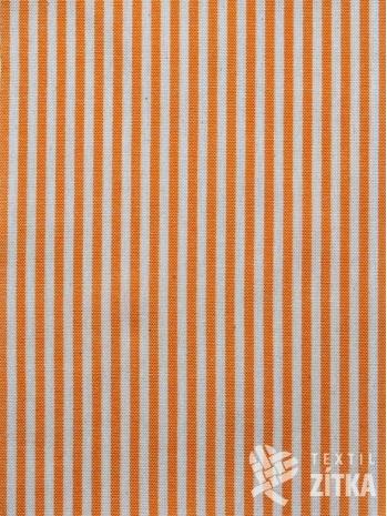 Kanafas drobný oranžový proužek 0,4 cm