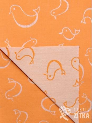 Žakár oranžový ptáček