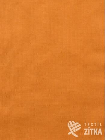 Kanafas jednobarevná oranžová látka