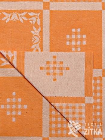 Žakár patchwork oranžový