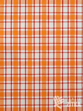 Kanafas oranžovo oranžová kostka