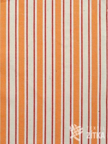 Žakár kombinovaný oranžovo oranžový pruh