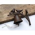 Zvonek litinový s ptáčkem