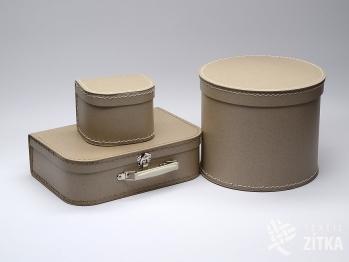 Kufřík, krabice - přírodní