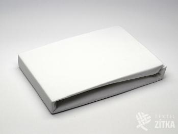 Prostěradlo Jersey bílé