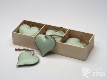 Srdce plechové starozelené