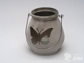 Svícen s motýlem