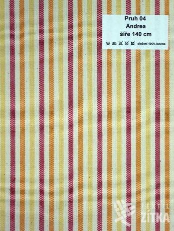 Kanafas drobný proužek 0,4 cm