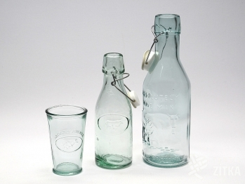 Lahev, sklenice na mléko