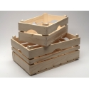 Dřevěná bedýnka s úchytkami