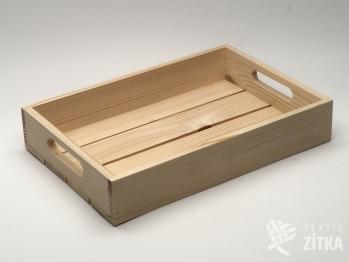Dřevěná bedýnka (podnos) s úchyty
