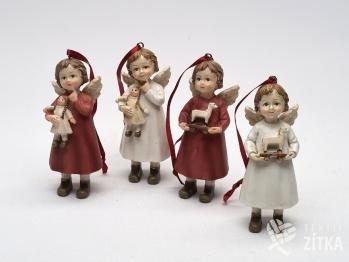Andělíček na pověšení - červený nebo bílý