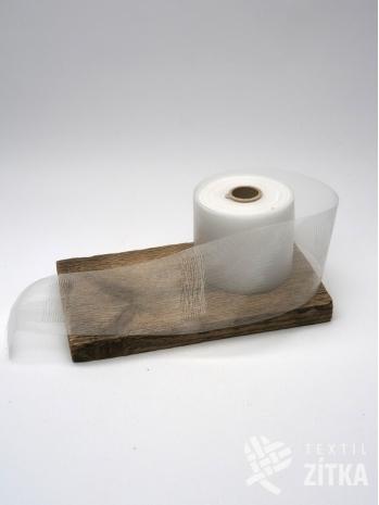 Řasící páska průhledná 80 mm