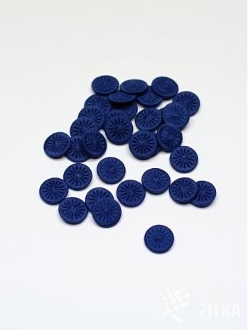 Nitěný knoflík modrý