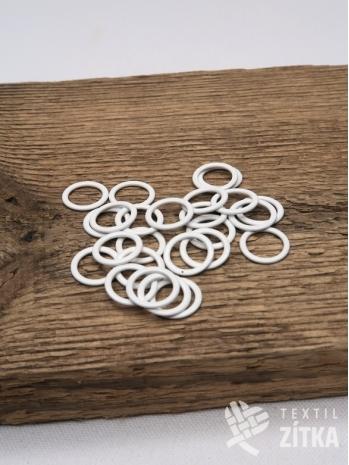 Kroužek kovový bílý 11 mm