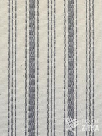 Kanafas šedý bavlněný pruh