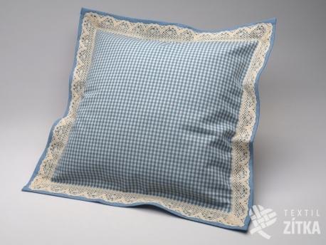 Polštářek obšitý 40 x 40 cm Piko 04 světle modrá