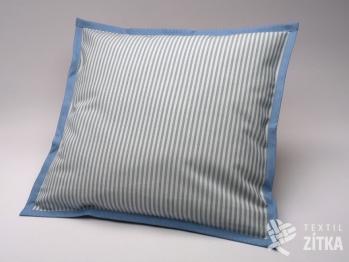 Polštářek 40 x 40 cm Pruh 04 světle modrá