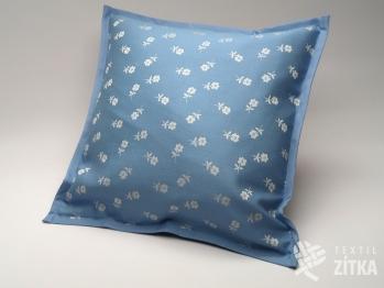 Polštářek 40 x 40 cm Sára 718 světle modrá