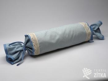 Váleček kombinovaný 15 x 45 cm Pruh 04 + Piko 04 světle modrá