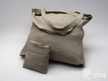Lněná taška - přírodní tmavá
