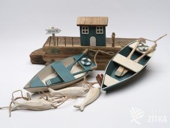 Závěs loďka, věšák, rybky