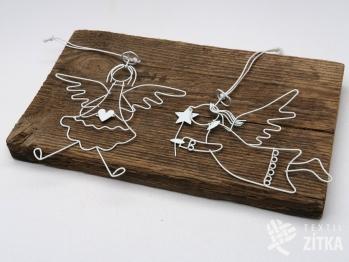 Drátěný anděl - set 2 ks