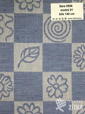 Žakár Sára 5596 modrá 01 - výprodej