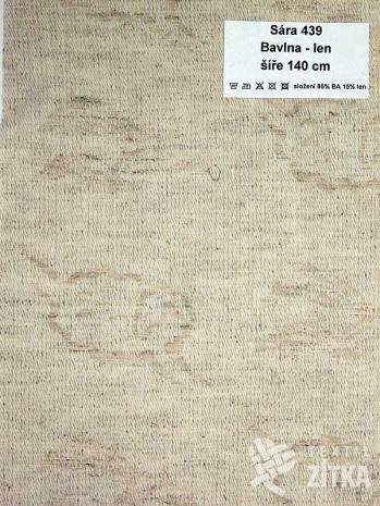 Žakár Sára 439 Bavlna + len - výprodej