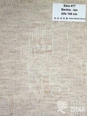 Žakár Sára 477 Bavlna + len - výprodej