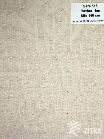 Žakár Sára 516 Bavlna + len - výprodej