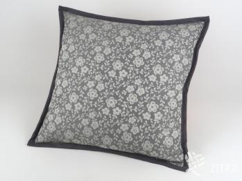 Polštářek 40 x 40 cm žakár Sára 790 šedá (líc tmavá)
