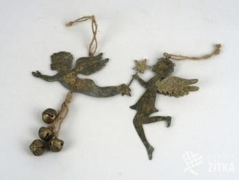 Závěs anděl - zlatá patina