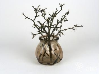 Váza skleněná kouřová