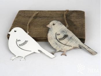 Ptáček plechový