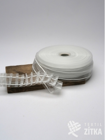 Řasící páska průhledná 40 mm