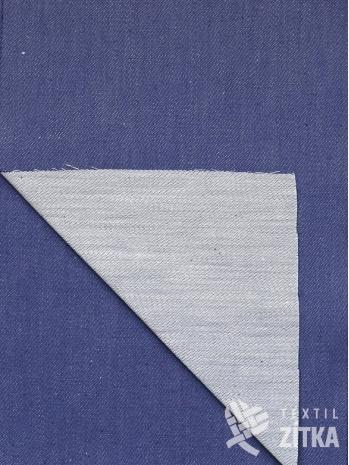 Žakár Satén modrá