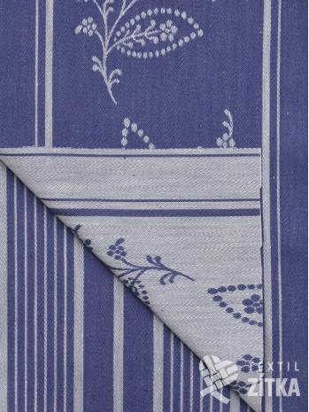 Žakár Leona 791 modrá