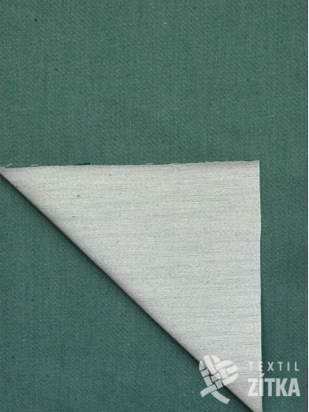Žakár Satén zelená